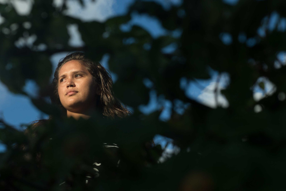 """Tiele-Lauren Doudt, Graduate Student in Hawaiian Studies at University of Hawai'i at Manoa was one of the active leader and participant of the 117 days sit-in protest against the construction of the Thirty Meter Telescope. As she was in the lock-in, Doudt said that she dreamed of what Hawai'i would look like if TMT were to never be built. """"Even if this was a failure, I will always have my community and my 'āina to return to,"""" she said."""