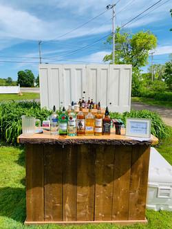 Live Edge Rustic Wood Bar