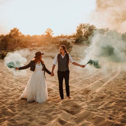 Sierpniowe wesele w plenerze.
