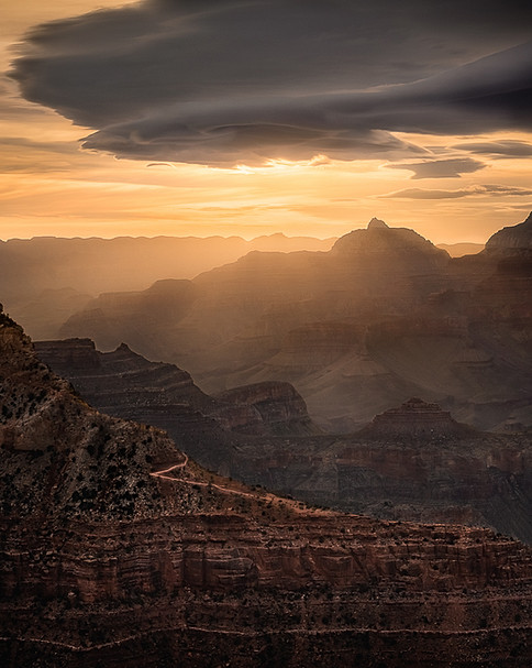 The Grand Canyon shorty after sunrise.