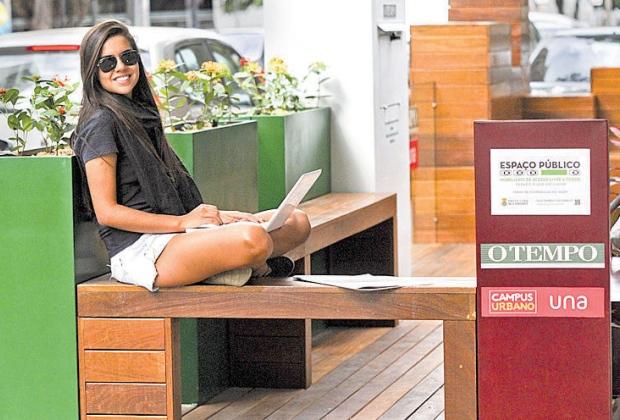 Parklet Jornal O Tempo e UNA