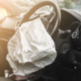 Airbag exploded at a car accident with i