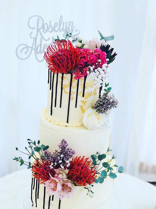 Wedding cake (3 tier)
