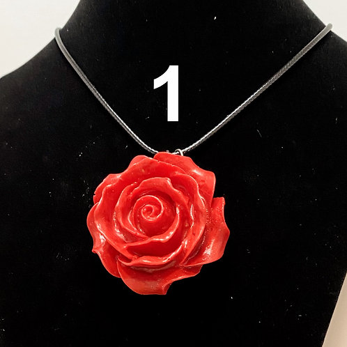 3D Rose Pendant