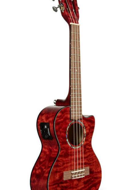 Lanikai Tenor Uke Quilted Maple Red With Case