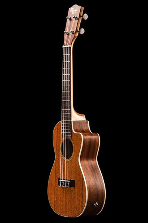 Ohana CK-20CE Solid Top Mahogany with Cut-Away Concert Uke