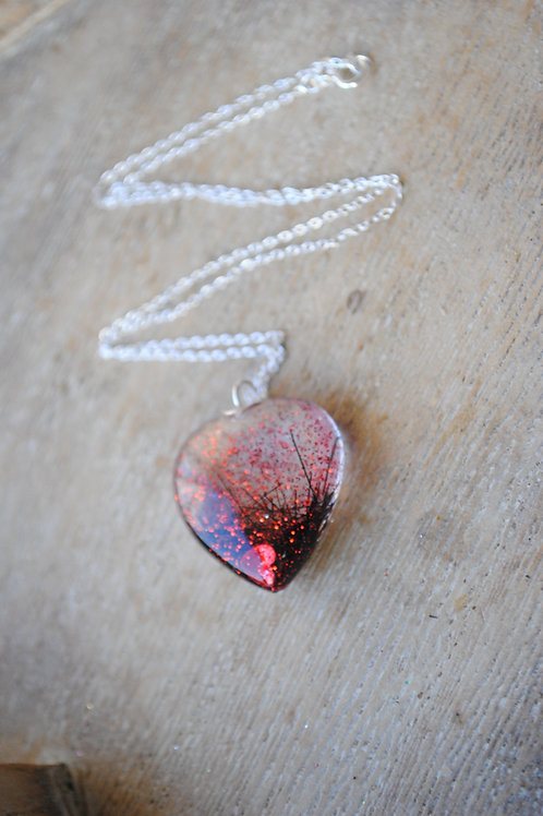 Bubble heart pendant from