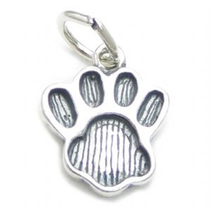 Sterling silver paw print