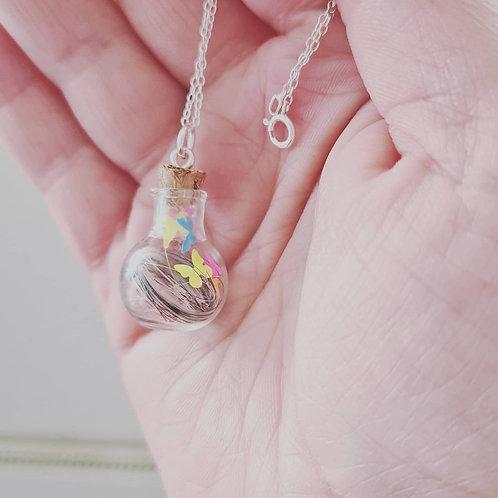 *New*Glass bottle pendant