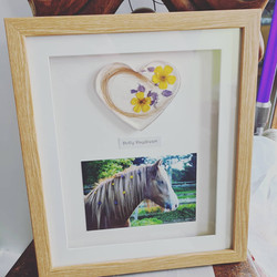 Image and heart frame