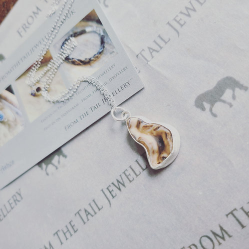 Sterling silver-Horse tooth pendant