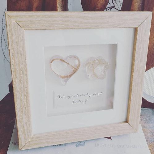 Framed Paw print & Heart