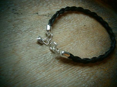 Sterling silver tulip end bracelet