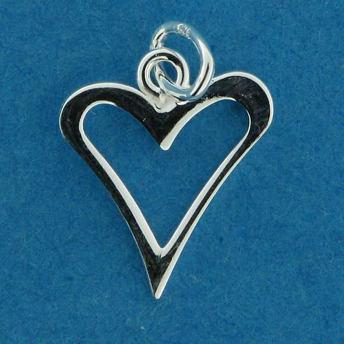 Sterling silver heart charms from