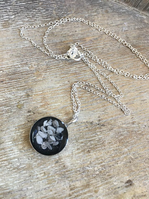 Sterling silver round pendant from