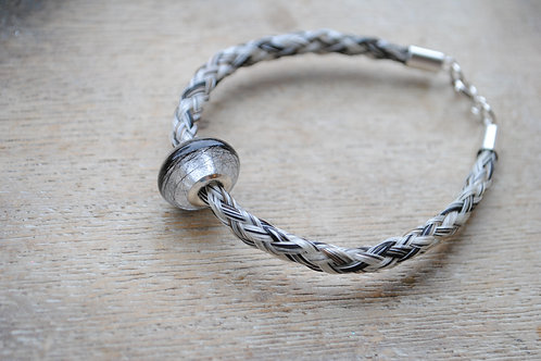 Sterling silver braid with resin bead