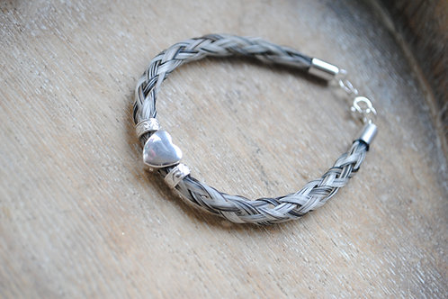 Sterling silver 3 bead country braid  from