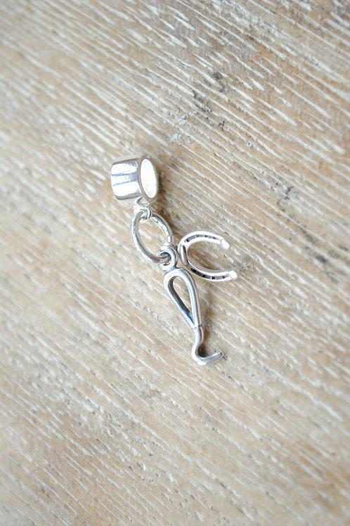 Sterling silver equestrian charm