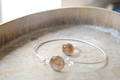 Bangle and Ring set Sterling silver