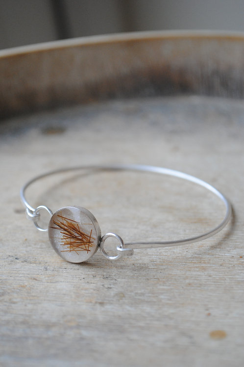 Sterling silver hook bangle