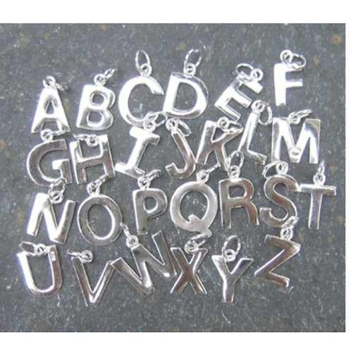 Capital letter charms