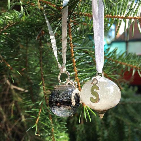 Sterling silver Christmas Tree decorations