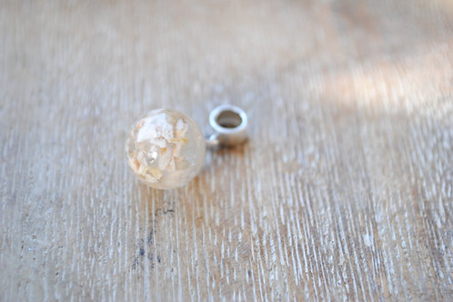 Sterling silver and resin ball charm