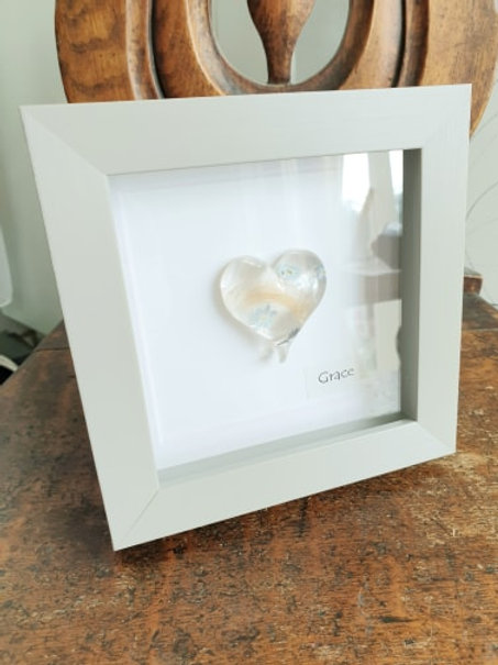 Framed Heart Keepsake From