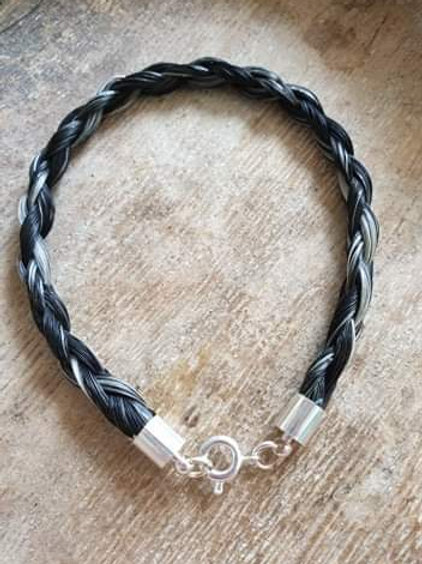 Silver plated plain braid bracelet