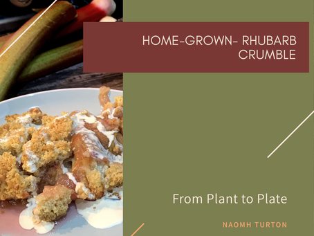 Home-Grown Rhubarb Crumble