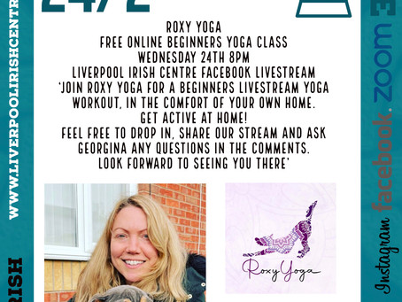 Roxy Yoga - Online Event Announcement