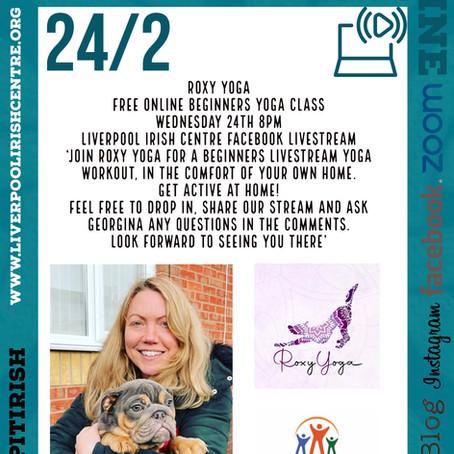 Roxy Yoga - Online Event Announcement