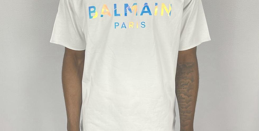 Balmain Hologram Logo Reflective T-Shirt