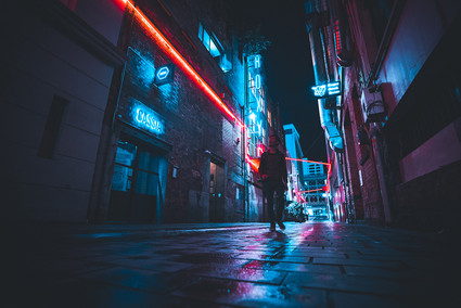 Back Streets Of Auckland After Dark by Luke Rooney