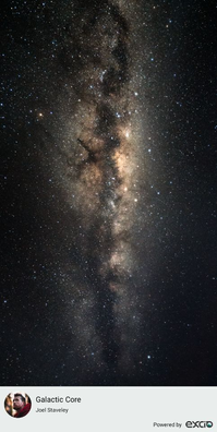 """The Galactic Core of the Milkyway seen from the North Island of New Zealand at Castlepoint."""