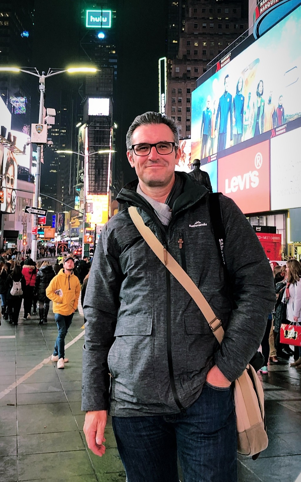 Chris McKeown, Times Square, New York city