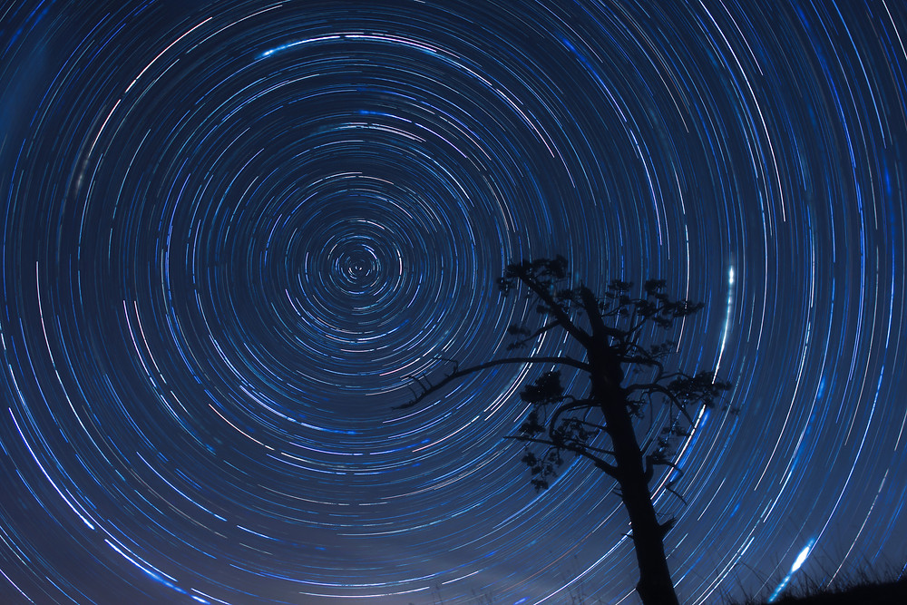 """Reaching"" by Tim Ashby-Peckham ""The stars twist around the celestial South Pole at night."""