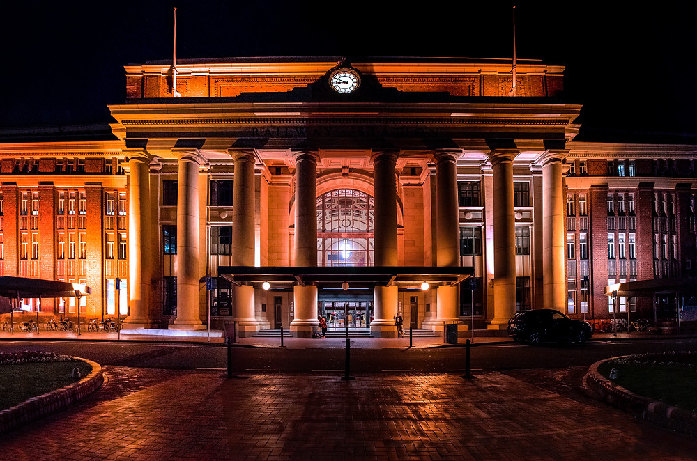 Wellington Railway Station, by Michael Harris