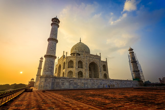 Sunrise at the Taj Mahal by Susan Blick