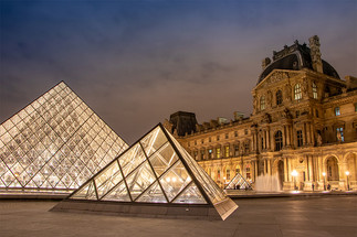 Golden hour at the Louvre in Paris by MichaelangeloPix