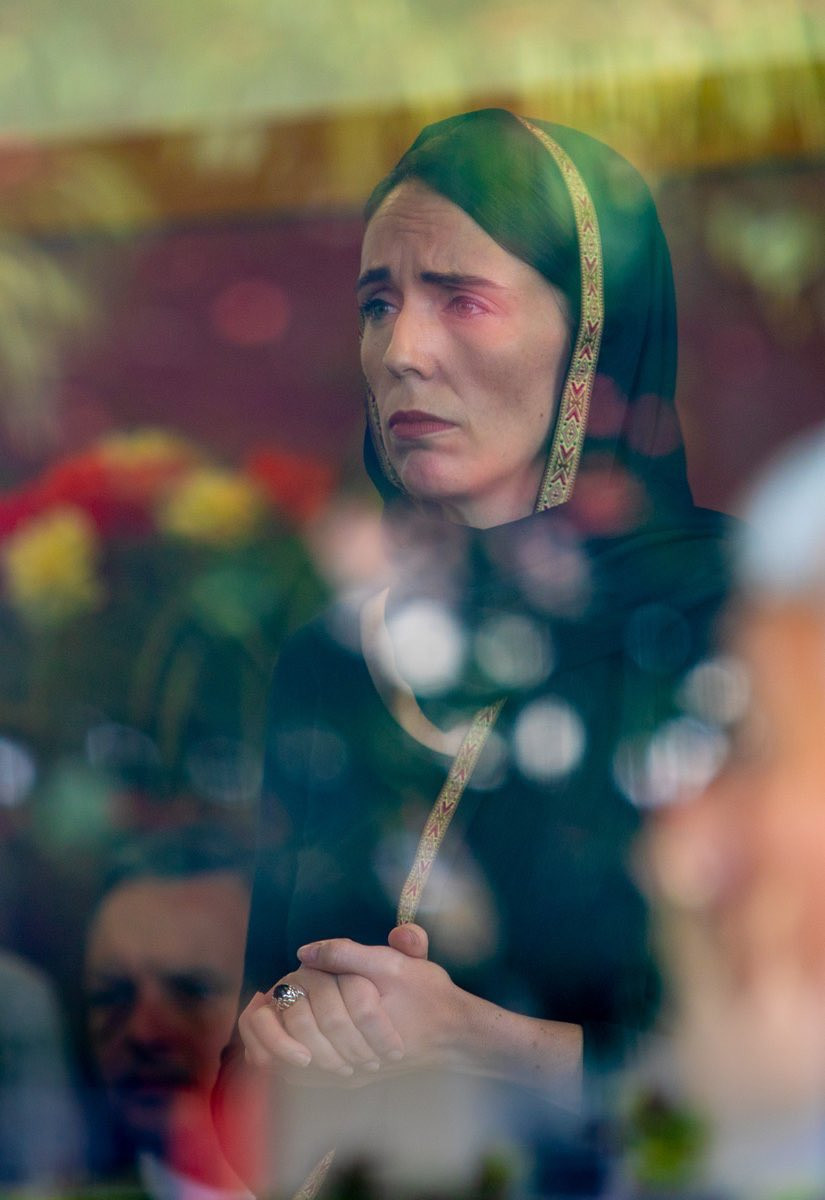 Prime Minister Jacinda Ardern at a Community meeting in Christchurch by Kirk Hargreaves