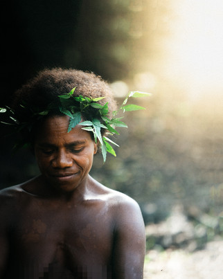 A Strong Woman of a Yakel Tribe by Maria Ligaya
