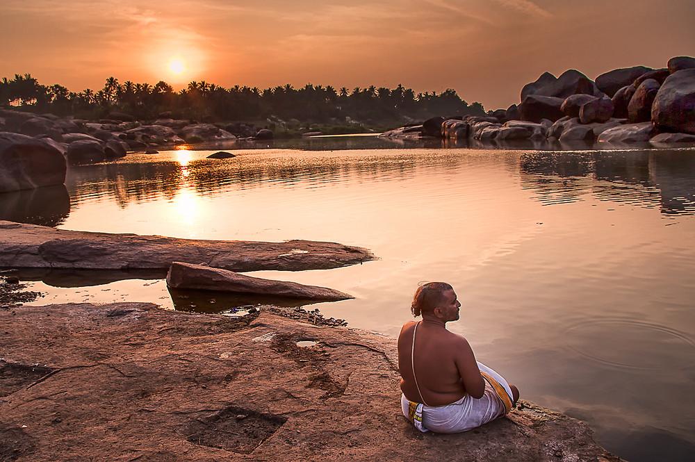 """Sunset prayers"" By Ram Subramanian, ""Mind & Shutter"""