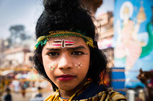 """Vibrant Varansi Ghat"" by Parmeet Sahni"