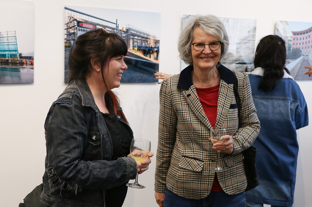 Gil Eva Craig at the exhibition, Photospace Gallery
