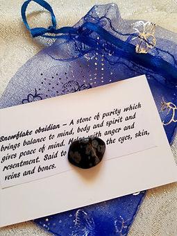 snowflake obsidian healing