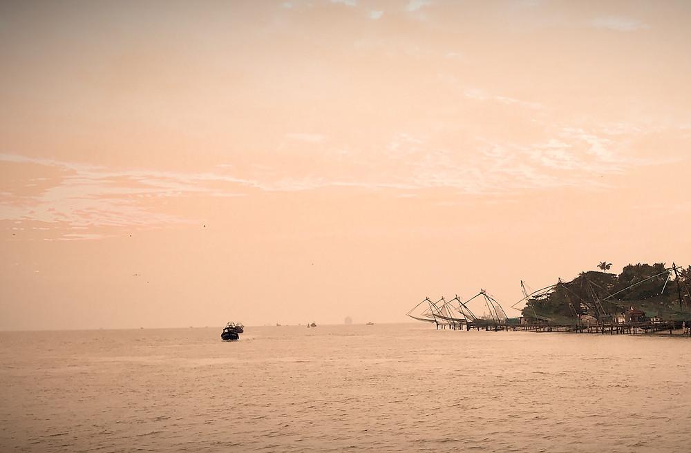 Credit: Kalay_Chinese fishing nets, Cochin, Kerala