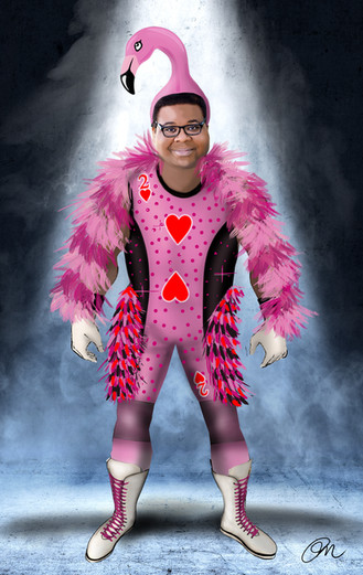 AP Bio: Episode 308  Anthony as Tony Flamingo Costume Design By Phoenix Mellow Illustration by Phoenix Mellow