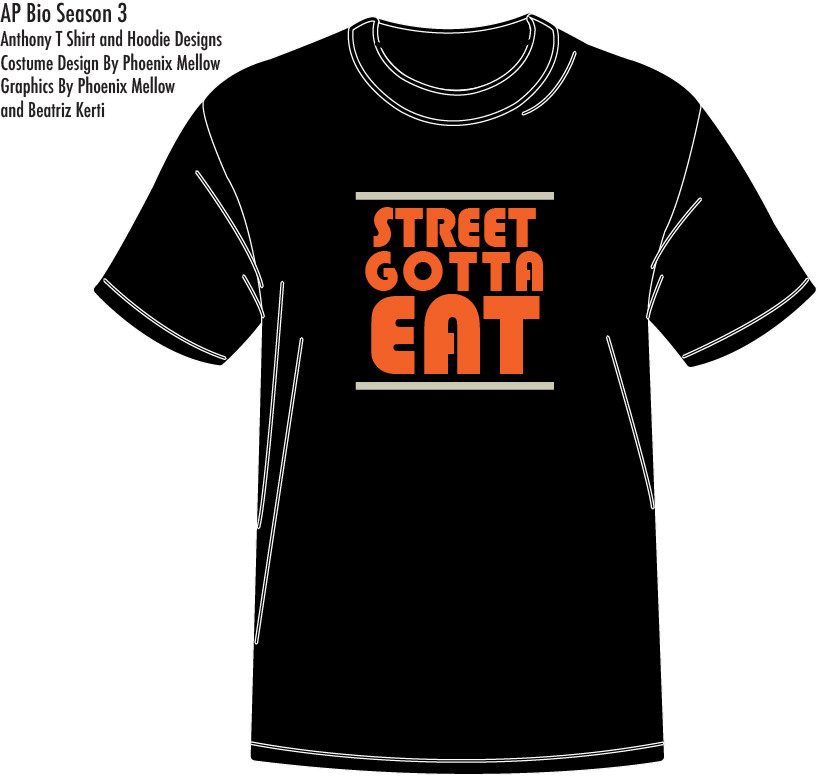 AP Bio: Episode 305 Street Gotta Eat Costume Design By Phoenix Mellow Illustration by Phoenix Mellow