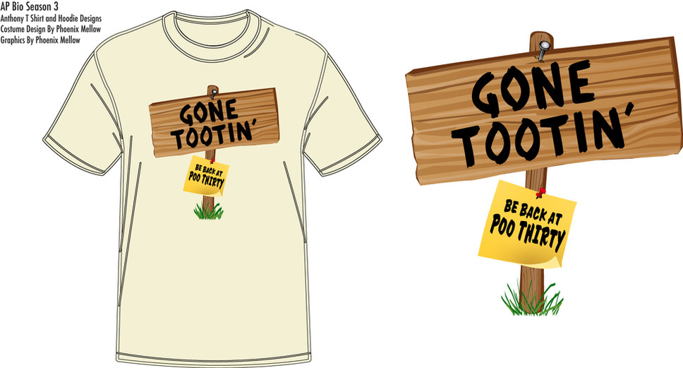 AP Bio: Episode 305 Gone Tootin' T-shirt Costume Design By Phoenix Mellow Illustration by Phoenix Mellow